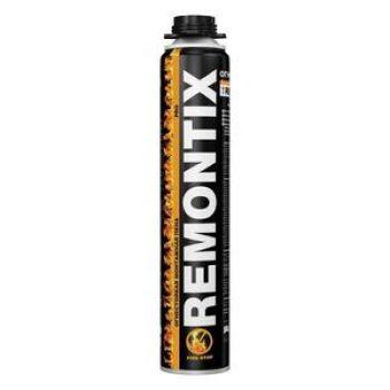 Огнестойкая монтажная пена REMONTIX PRO Fire Stop пистолетная, 750мл.