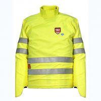 Защитная куртка TST с встроенной защитой рук. Огнезащитная повышенной видимости. Уровень защиты 20/30