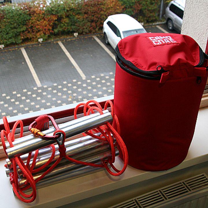 Лестница навесная спасательная пожарная Самоспас 6