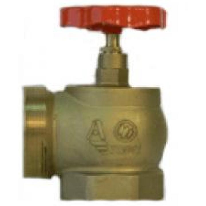 КПЛМ 50-1 Клапан пожарный латунный 90° муфта-цапка 50мм