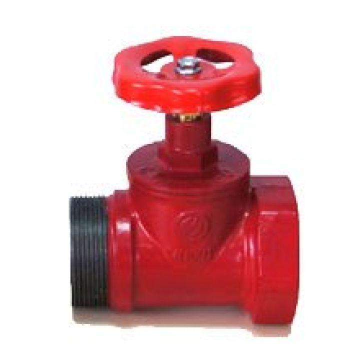 Клапан пожарный чугунный прямоточный КПКП 65-1 муфта-цапка