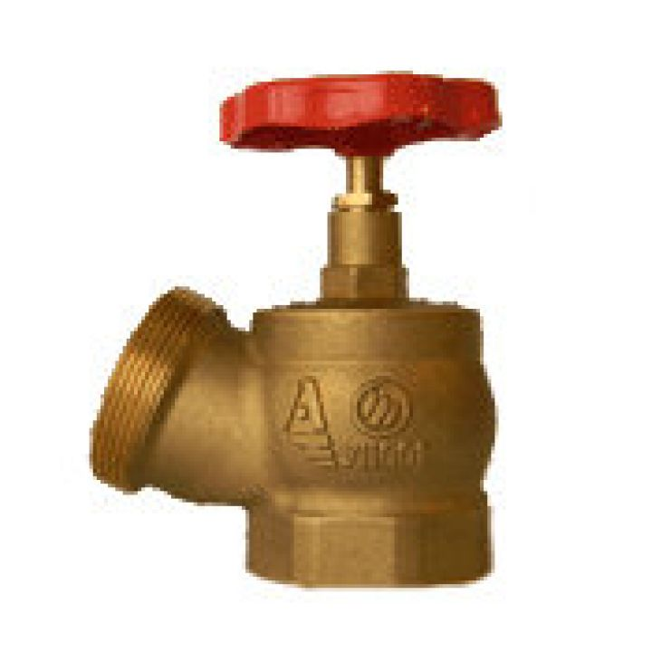 КПЛ 65-1 Клапан пожарный латунный 125° муфта-цапка 65мм