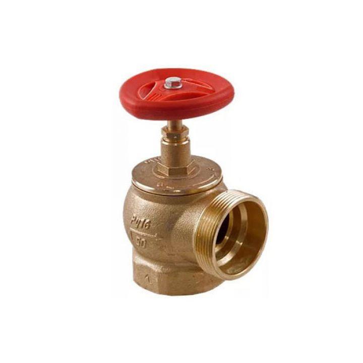 Клапан пожарный КПАЛ 50 латунный 90° с соединительной головкой 50мм