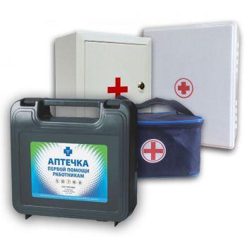 Аптечка для оказания первой помощи работникам (по Приказу №169Н) (пластиковый шкаф)