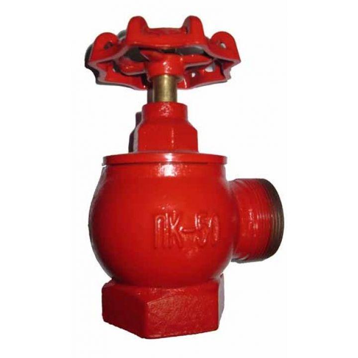 КПКМ 50-1 Клапан пожарный чугунный 90° муфта-цапка 50мм
