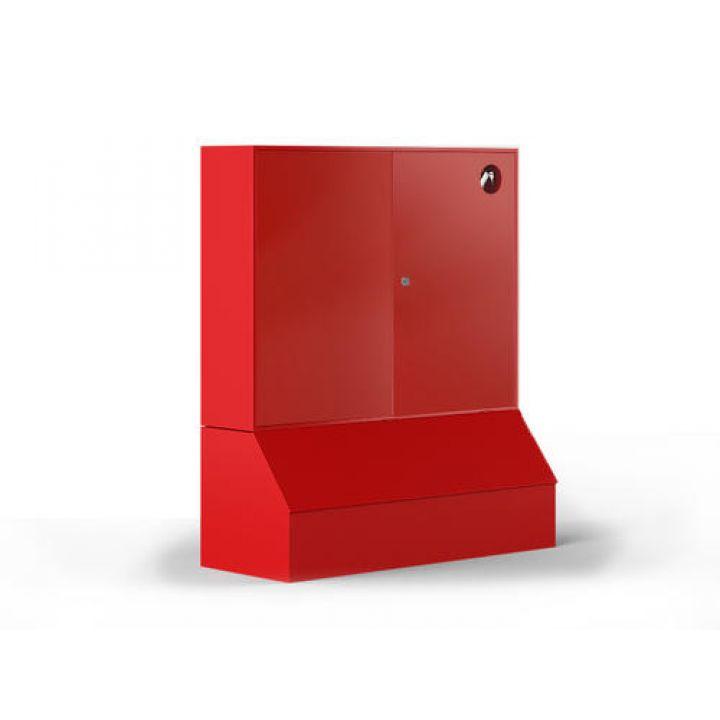 Щит пожарный закрытый без окон с ящиком для песка (металлический)