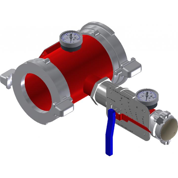 Дозатор пожарный напорный ДПН-80 (ГМ-80х2) с ГМ-50