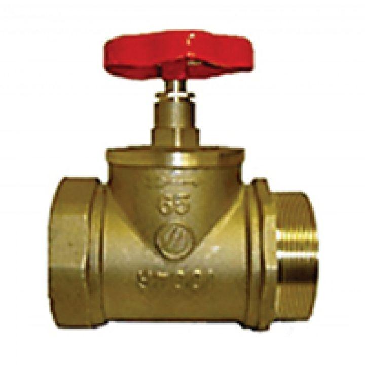 КПЛП 65-1 Клапан пожарный латунный прямоточный муфта-цапка 65мм