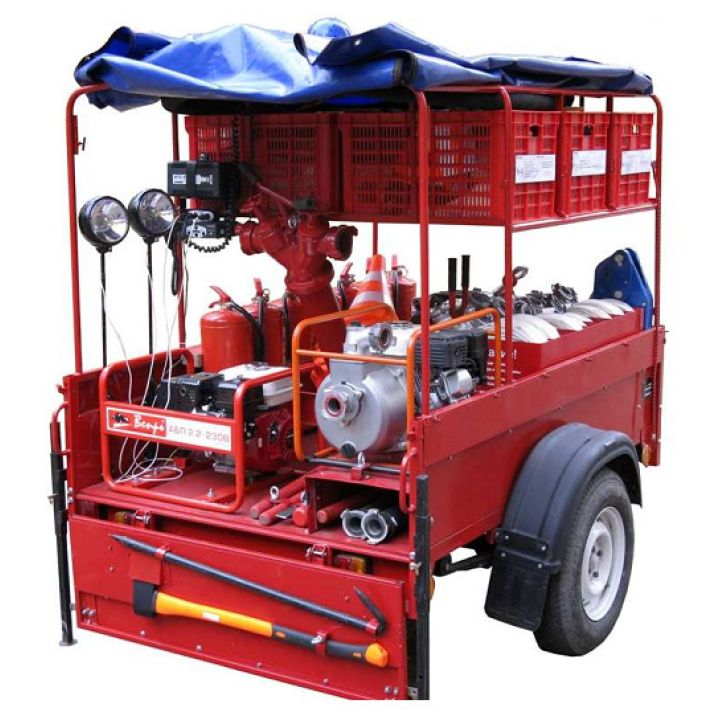 Огнеборец - 570Б Пожарно-спасательный комплекс / пожарный прицеп